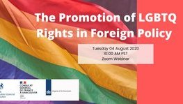 Promotion of LGBTQ Rights in Foreign Policy : webinar August (...)